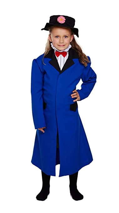 Vintage Style Children's Clothing: Girls, Boys, Baby, Toddler Girl Victorian Nanny Costume Kids Fancy Book Week Party Dress OutFit 4-12 Years $22.99 AT vintagedancer.com