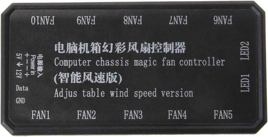 YUYUQ Adjustable LED Computer PC Cooling Fan Cooler Controller for CPU+IR Remote Control Cooling Shell Heat Sink Accessories