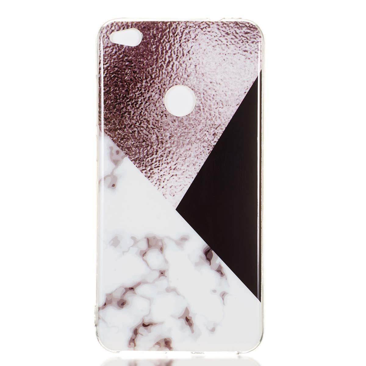 Misstars Marmor H/ülle f/ür Huawei P8 Lite 2017// P9 Lite 2017 Weich TPU Silikon Handyh/ülle mit IMD Technologie Schutzh/ülle Flexible D/ünn Backcover Bl/ätter