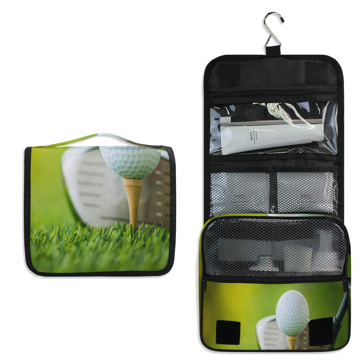 d6e00d6a87cb Amazon.com: Hanging Toiletry Bag Sport Golf Ball Green Waterproof ...