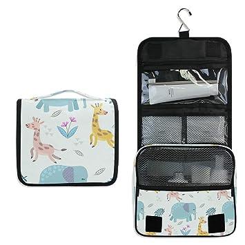 Amazon.com: Neceser de viaje para colgar, diseño de jirafa y ...