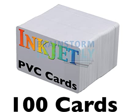 inkjet pvc cards 100 pack inkjet printable pvc id cards with brainstorm ids