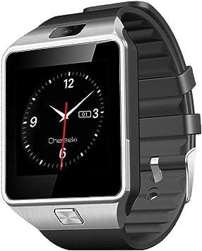 CHEREEKI Reloj de pulsera smartwach con funcion llamada por ...