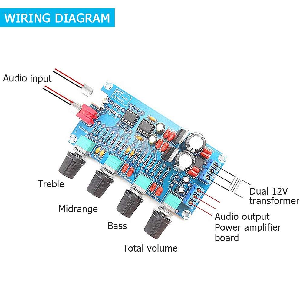 NE5532 Stereo Preamplifier Volume Control Board with Treble Midrange ...
