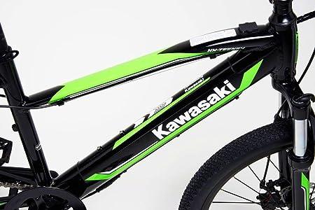 Kawasaki Bicicleta eléctrica con pedaleo asistido amortiguado 24 ...