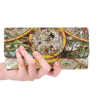 Único Personalizado Antiguo Siglo XVII Mapa del Mundo Macro ...