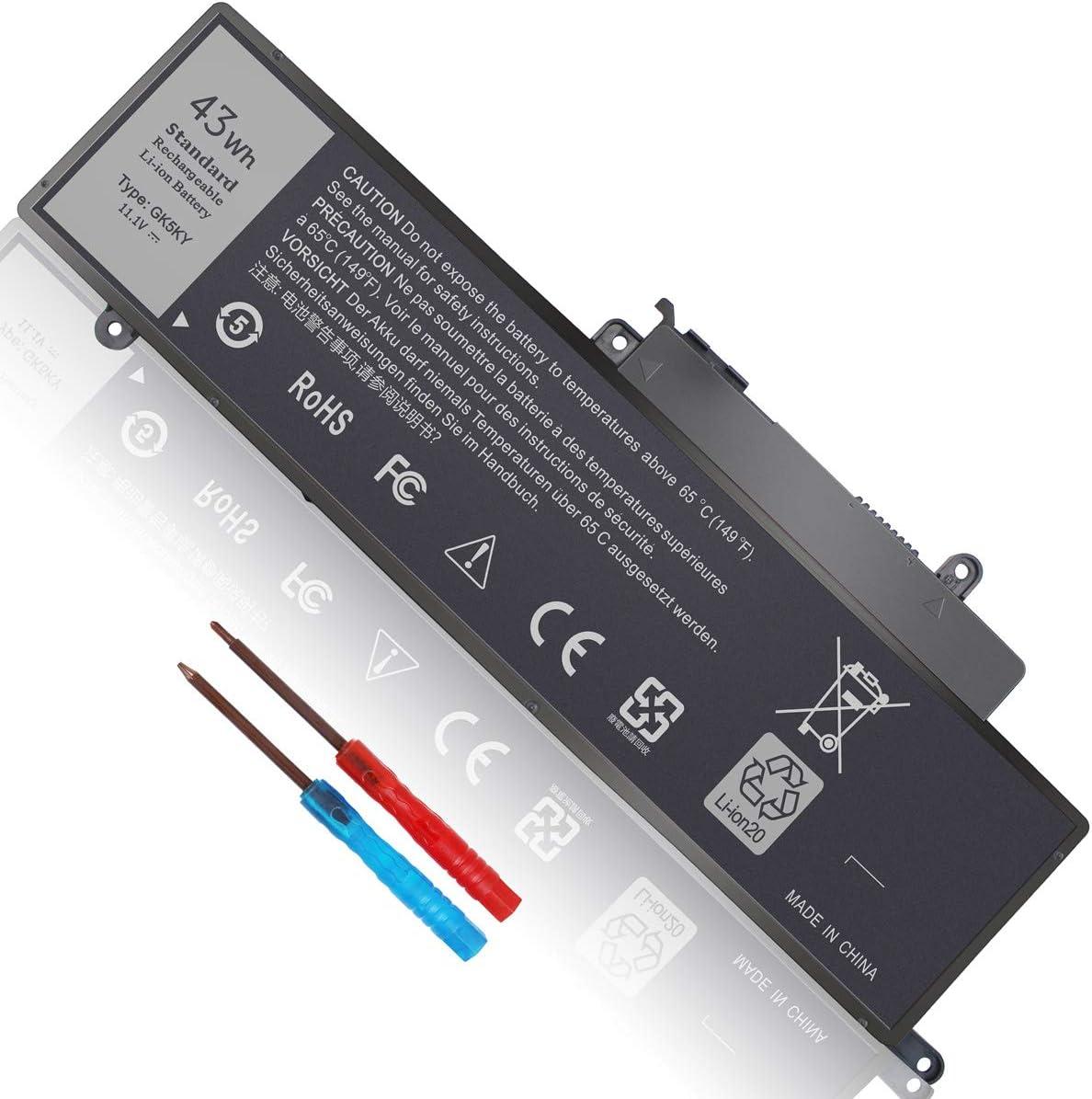 43Wh GK5KY Battery for Dell Inspiron 11 3000 Series 3147 3148 3152 3153 3157 13 7347 7348 7352 7353 7359 15 7558 7568 P20T P57G P55F 11-3147 11-3148 11-3152 11-3153 11-3157 2-in-1 92NCT 4K8YH 451-BBKK