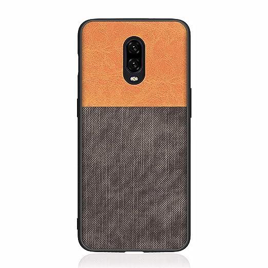 XINGYAN Estuche OnePlus 6T, Creative Denim Costuras Silicone Border Case Anti Sudor a Prueba de Huellas Dactilares [Absorción de Choque] para el teléfono Inteligente Oneplus 6T, Azul,D: Amazon.es: Hogar