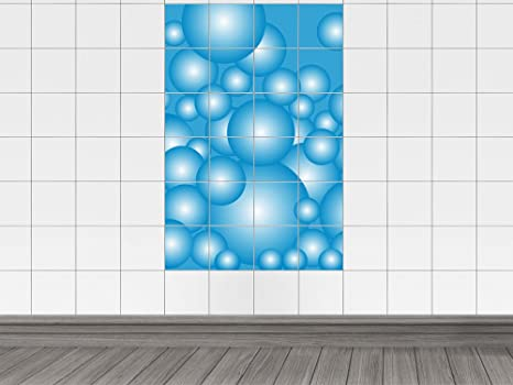 Piastrelle adesivo adesivo per bagno bolle sfere a pois bildgröße