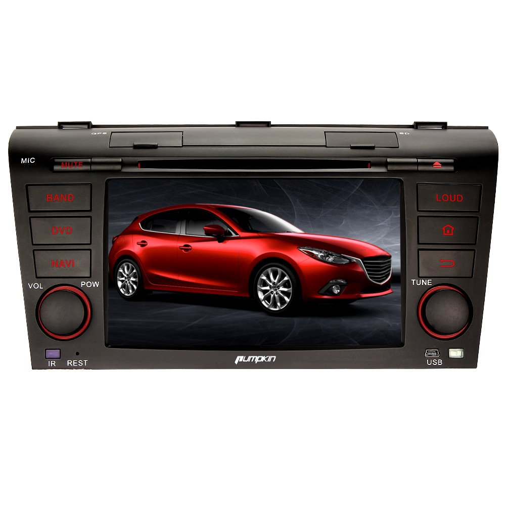 Pumpkin 7 inch Double Din Car Stereo for Old Mazda 3 2004-2009 with Android  4.4 Multimedia Player Car Auto Support GPS Bluetooth Phone Link WIFI 3G DVR  ... 9b6fa067e25b
