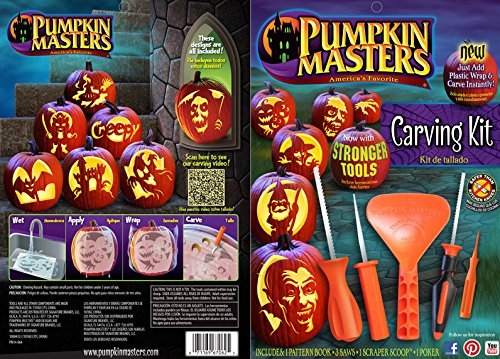 Halloween Pumpkin Masters Designs + Carving Kit Now with Stronger Tools