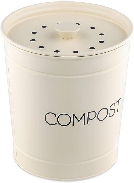 Navaris Komposteimer Mülleimer Abfalleimer Für Biomüll 3l Eimer Behälter Für Müll Bioabfallbehälter Inkl 3 Kohlefiltern
