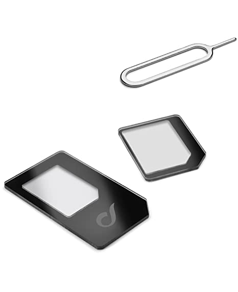 Cellularline Nano Sim Adapter Plus SIM card adapter - Adaptador para tarjetas de memoria (2 pieza(s), Ampolla, 90 mm, 5 mm, 195 mm, 20 g)