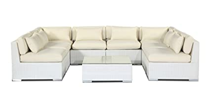 Fantastic Amazon Com Kardiel White Wicker Outdoor Garden Furniture Machost Co Dining Chair Design Ideas Machostcouk