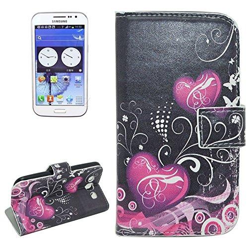 Funda Iphone, Lotus patrón Flip caja de cuero con titular y ranuras para tarjetas y cartera para Samsung Galaxy Win / I8552 ( SKU : S-SCS-3796B ) S-SCS-3796N