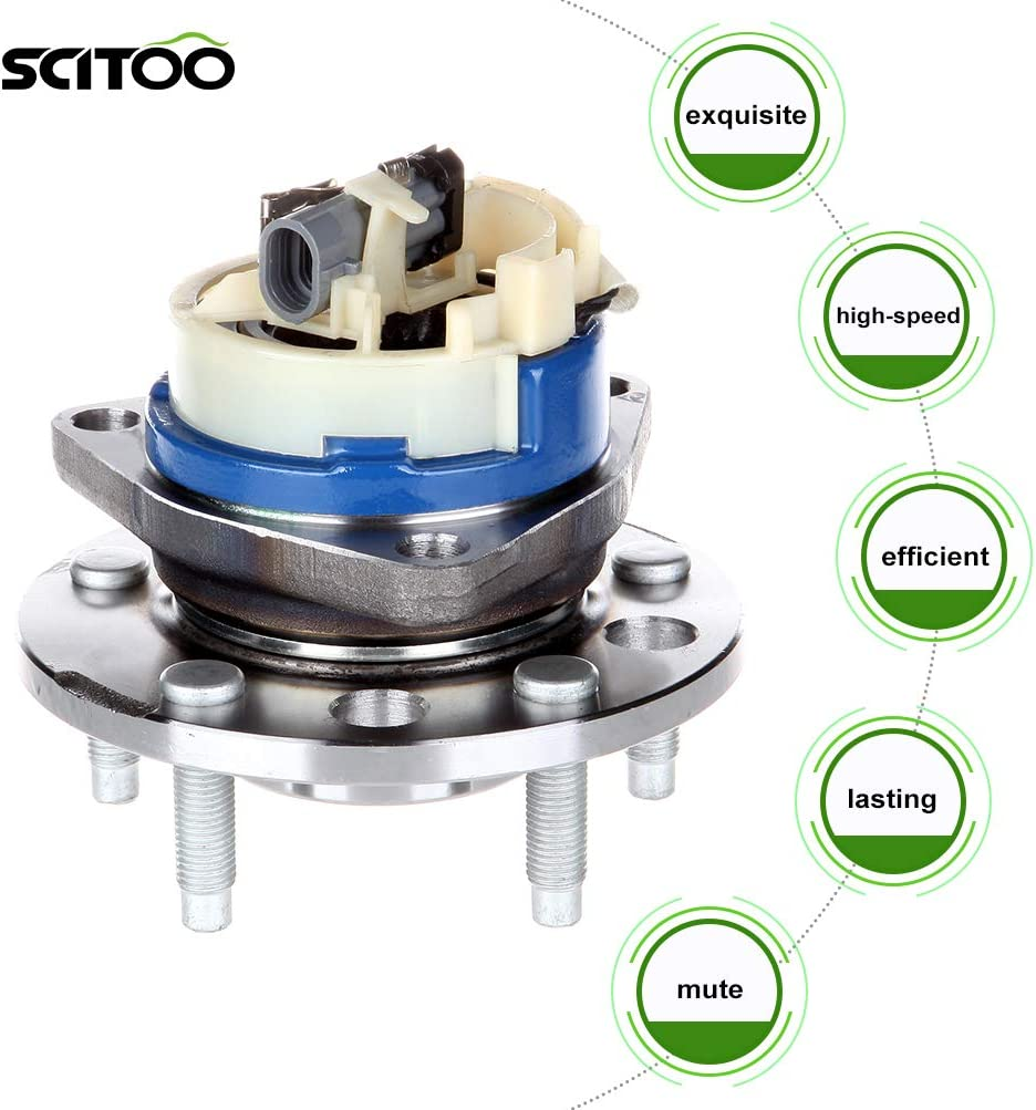 SCITOO Front Wheel Bearing Hub 513087 Hub Bearing 5 Bolts ABS fit Buick Lesabre Buick Park Avenue Buick Riviera Cadillac DeVille Cadillac Seville Oldsmobile Oldsmobile Silhouette Pontiac Bonneville
