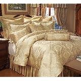 9 Piece Queen Gold Imperial Comforter Set