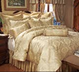 9 Piece Cal King Gold Imperial Comforter Set