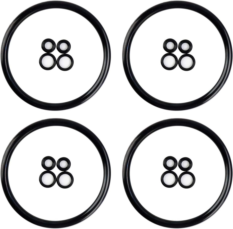 4 Pack Beer Keg Lid O-Ring Kit Ball lock Beer Keg Re-Build Kit O-Ring Keg Replacement Gasket Kit Food Safe O-Ring Replacement O-Ring Kit Fits Cornelius Keg Strong Wear-Resistant O-ring - TOSUNY