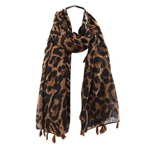 2c0bbb35f62f8 Yutao Print Classic Leopard Print Infinity Scarf Warm lightweight Acrylic  Cheetah Scarves for Women at Amazon Women's Clothing store: