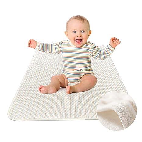 YOOFOSS Cubrecolchón Bebé Protector Impermeable para Cuna 70 x 100cm, Colchón Incontinencia a los Mayores. Pasa el ...