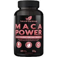 Maca Peruana com Graviola, e Cúrcuma - Ingredientes Naturais - 1 Pote com 60 Cápsula de 500mg - Natural Vitaminas.