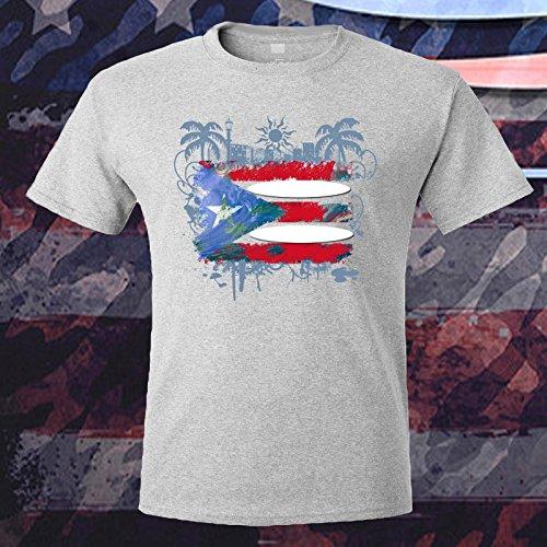 Puerto Rico Flag Surfing Unique Design T-shirt Women's Mens Kid's Unisex Present - Mens Online Store
