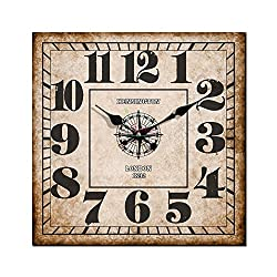Cloud RackDigital Wooden Square Wall Clock A 16 Inches A16