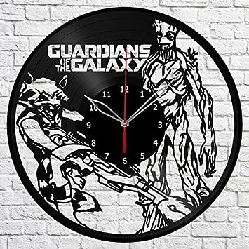 Guardianes de la Galaxia, Reloj de Pared de Vinilo, Hecho a ...