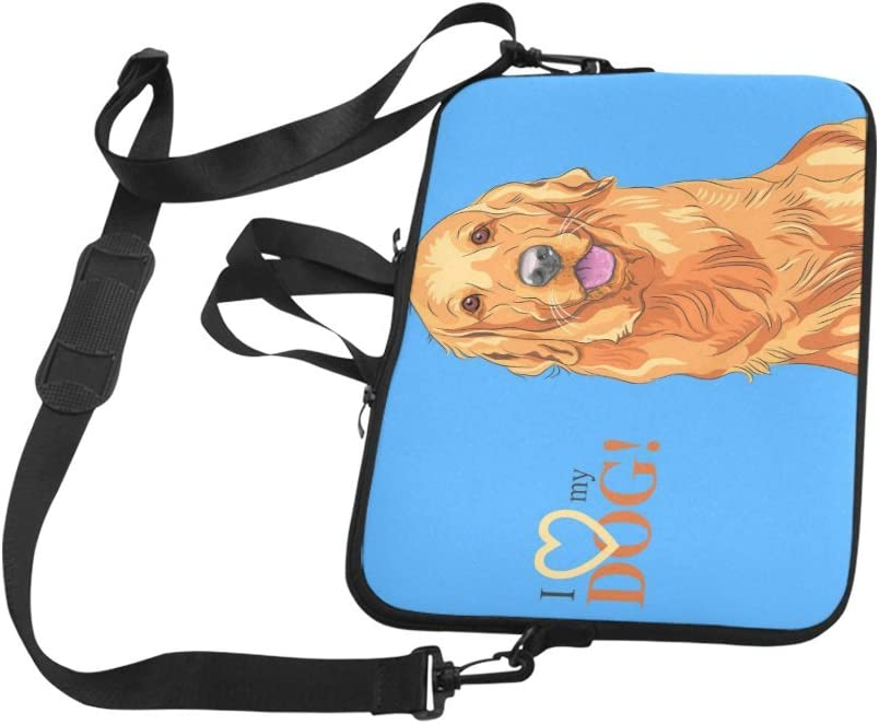 Watercolour Dog 15 Inch Laptop Sleeve 13 and 15 Inch Case Briefcase Notebook Computer DIY Pattern Design Diving Material