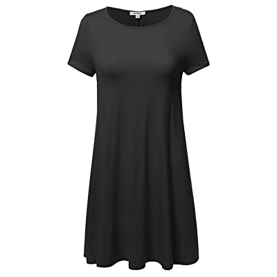 8ebe1d7754d Awesome21 Women's Short Sleeve Stretchy Loose Fit Casual Tunic Dress ...
