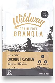 product image for Wildway Vegan Granola | Coconut Cashew | Certified Gluten Free Granola Snack Packs, Grain Free, Paleo, Non GMO, No Artificial Sweetener | 4 Pack