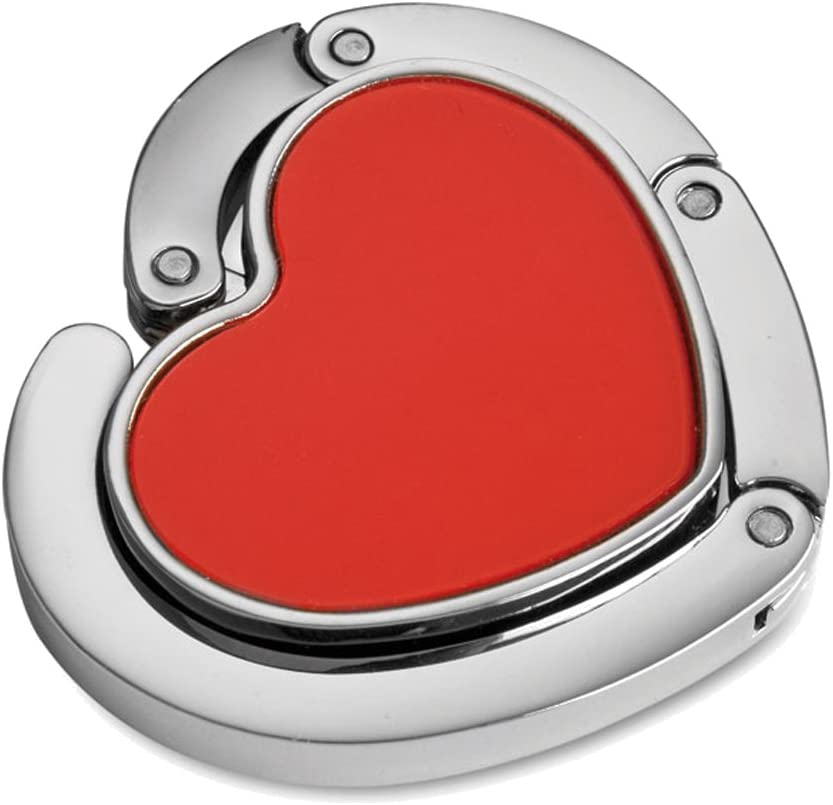 Folding Handbag /& Purse Hanger Hook Pack of 1 Red Heart