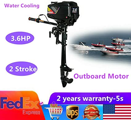 NEW 2 Stroke 3.6HP Heavy Duty Outboard Motor Boat Engine w//Water Cooling System