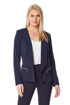 Roman Originals Womens Textured Zip Detail Jacket Ladies Single