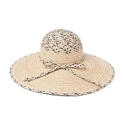 Alger Chapeau De Plage D'Été Grand Chapeau De Paille À Larges Bords Vacances Femme Voyage Chapeau De Soleil Pliable, Navy Blue