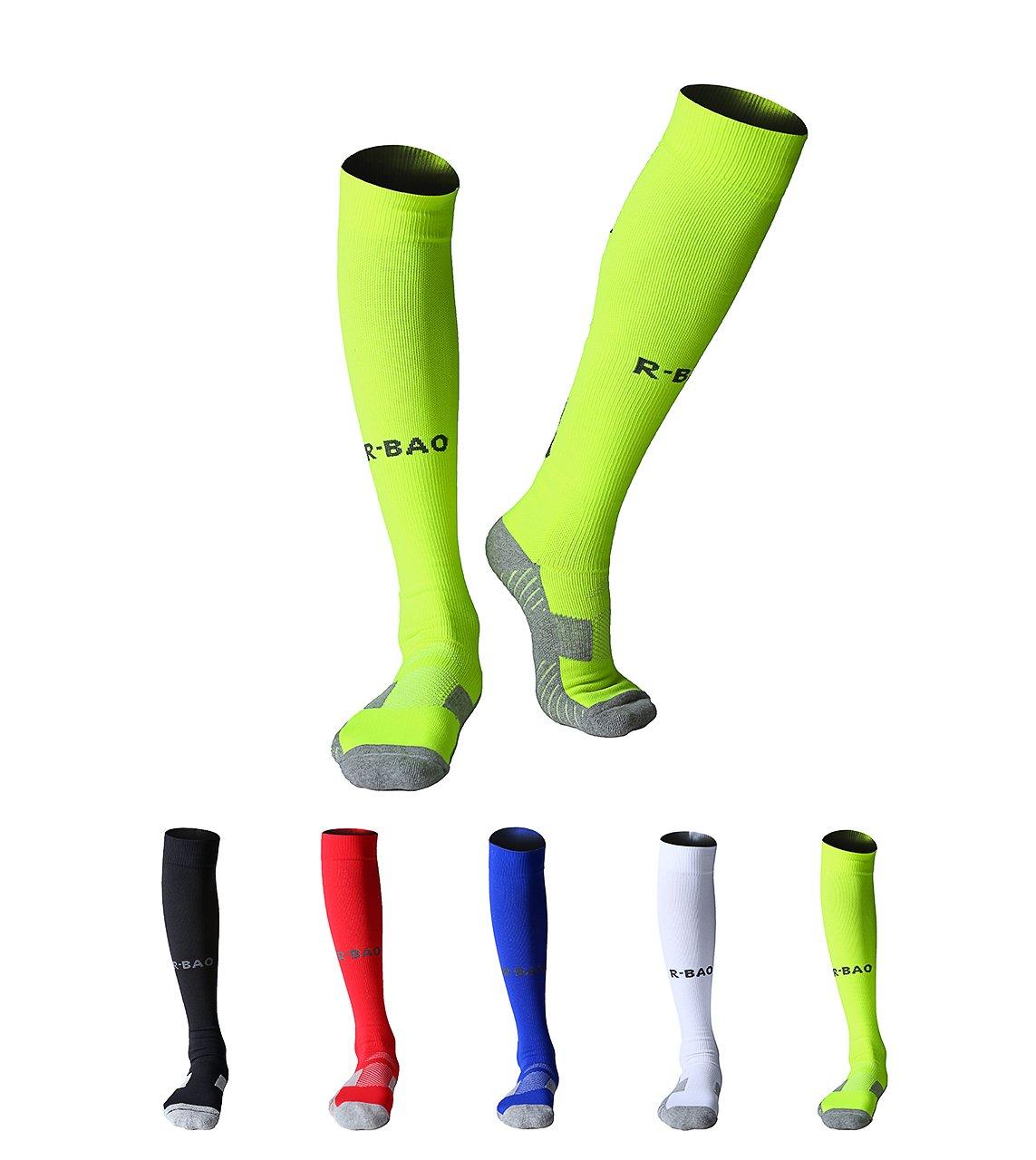 Maibuメンズ2ペアアスレチックソックスソフトコットンクッション圧縮FootballバスケットボールRunning Exerciseソックス B01MDIX4KV Green 2 pairs Green 2 pairs