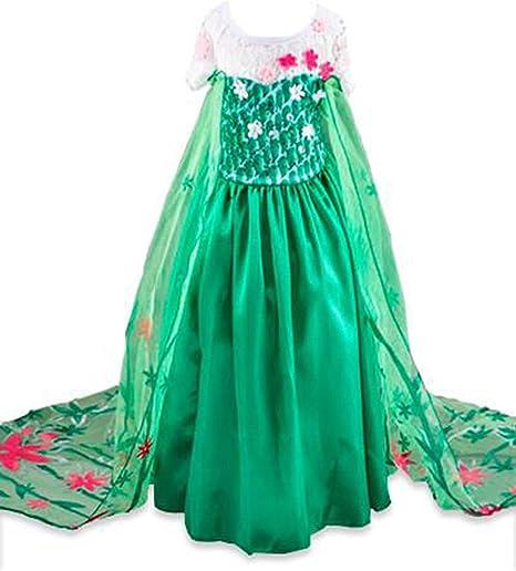 Disfraz de la Princesa Elsa Anna de Frozen Vestido Niña (Talla 140 ...