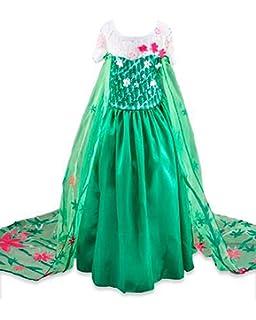 Disfraz de la Princesa ELSA ANNA de Frozen Vestido Niña (Talla 130 (6-