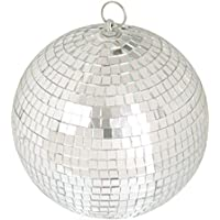 """LEEUEE 6"""" Disco Mirror Ball,Silver"""