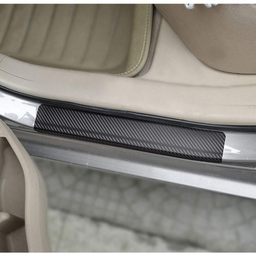 Fiat Auto Accessory Door Handle Trim Molding Scratch Cover Guards Carbon Fiber 4 Door Pack