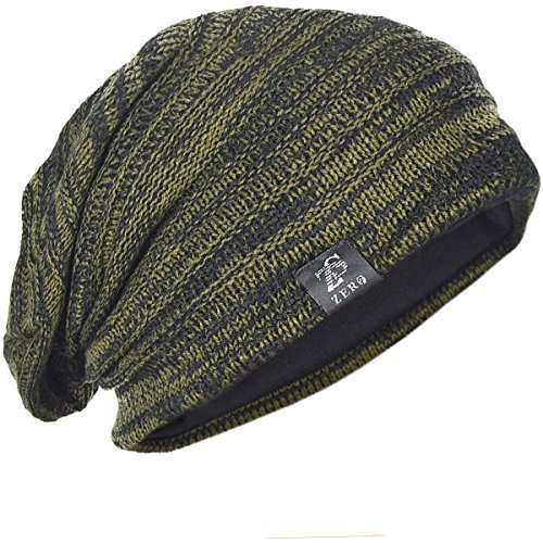 FORBUSITE Men Beanie Slouchy Hat for Summer Winter Baggy Oversize B5001 Army Green