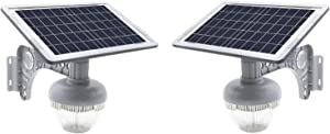 2PACK Solar Garden/Street Light with Rust-Proof Steel Mounting Bracket- Super-Bright 3000 Lumens - NO-Wire Installation Outdoor Solar Landscape Lights/Water-Resistant