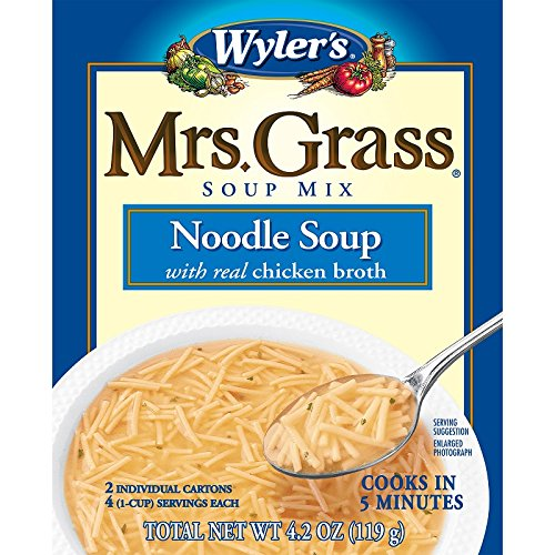 Mrs. Grass Noodle Soup with Chicken Broth (4.2 oz Cans, Pack of 12) (Best Chicken Nuggets For Kids)