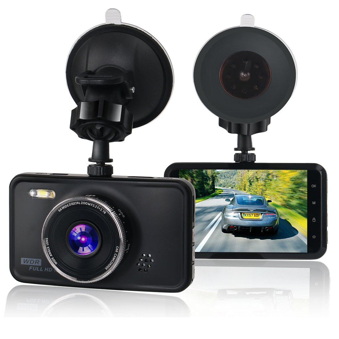 KASSADIN Dash Cam, 1080P Full HD Car Camera DVR Dashboard Camera Video Recorder 3 inch LCD Display 6G Lens with WDR, Loop Recording, G-sensor, Motion Detection SMOH-x