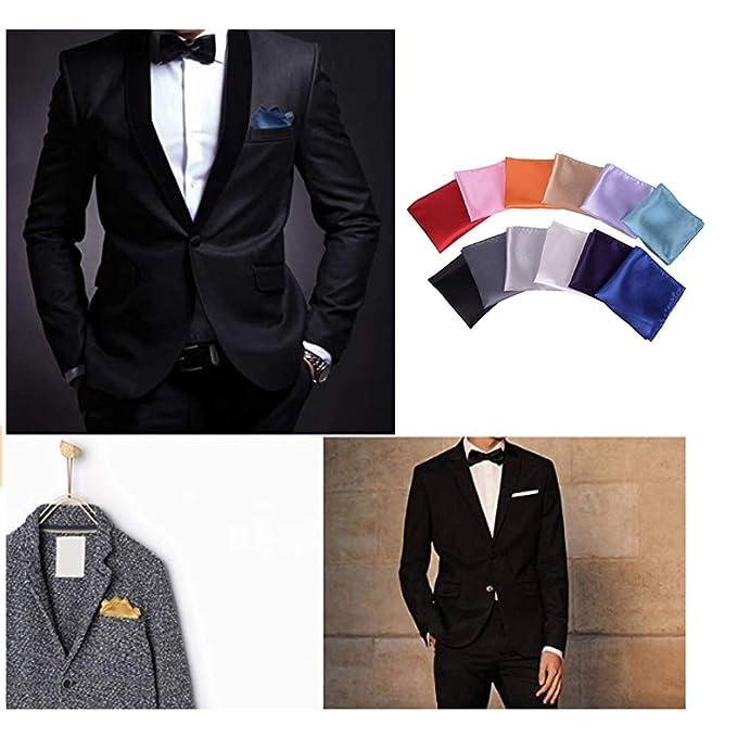 Amazon.com: 12 pañuelos cuadrados de bolsillo para hombre ...