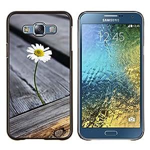 Planetar® ( Grano de madera de la textura gris verano ) Samsung Galaxy E7 E700 Fundas Cover Cubre Hard Case Cover