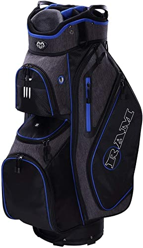 Ram Golf Tour Cart Bag with 14 Way Dividers Top