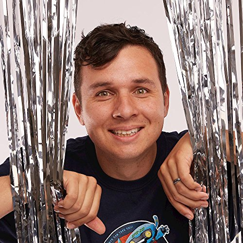 Vacation Bible School (VBS) 2019 To Mars and Beyond Silver Foil Decorating Curtain: Explore Where God's Power Can Take You! ()
