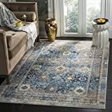 Safavieh Claremont Collection CLR663C Blue and Gold Area Rug (4′ x 5'9)